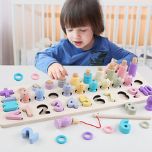 New Montessori Wooden Toys Counting Digital Matching Magnetic Fishing Game Math Toy Early Learning Educational Toys For Children early educational toys wooden toys 32 piece set magnetic fishing game table game for children kids