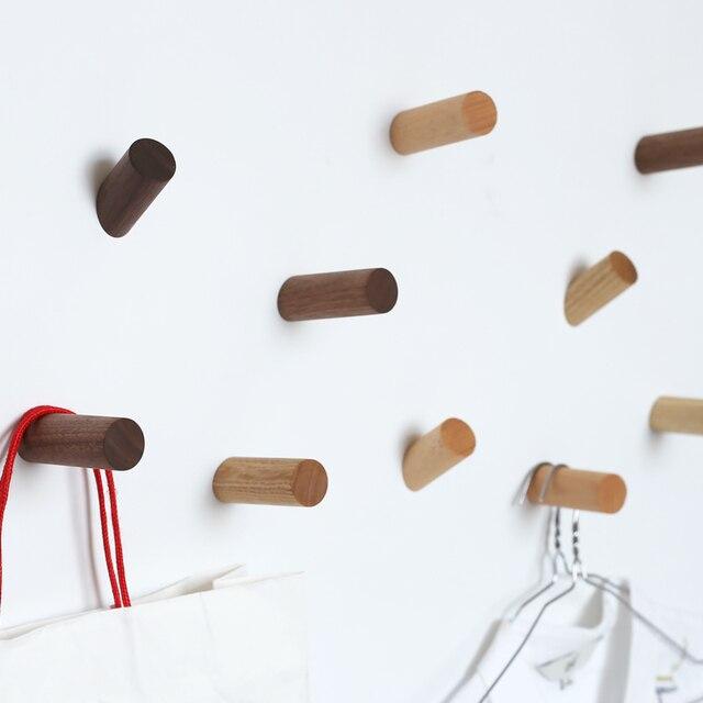Parete in legno appendiabiti da parete in legno naturale - Appendiabiti da parete ikea ...