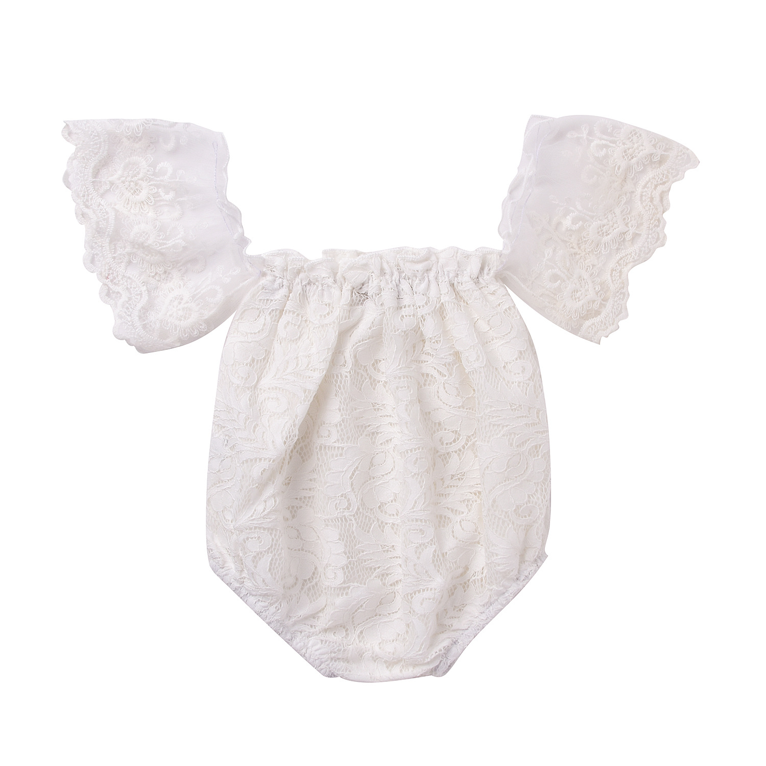 Fashion Baby Clothes Princess Baby Rompers f Shoulder White Lace