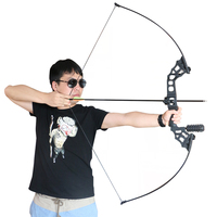 Junxing Archery Hunting Take Down Bow 40lbs Black Recurve Bow for Outdoor Fishing Shooting Right Hand With Bow Accessories