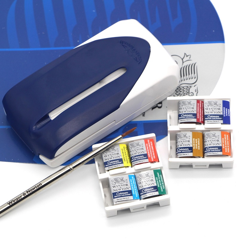 8 Colors Winsor&Newton Solid Watercolor Paints акварель winsor