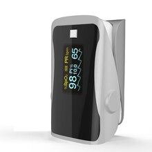 PRCMISEMED Household Health Monitors Pulse Oximeter ABS Silicone Sensor Equipment Finger Portable Oximetro-Grey
