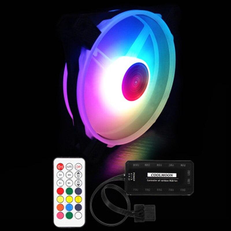 Colorful RGB Case Fan 12 cm RGB Acqua di raffreddamento Del Computer Fan 12025 di Luminosità e Velocità Della Luce Regolabile
