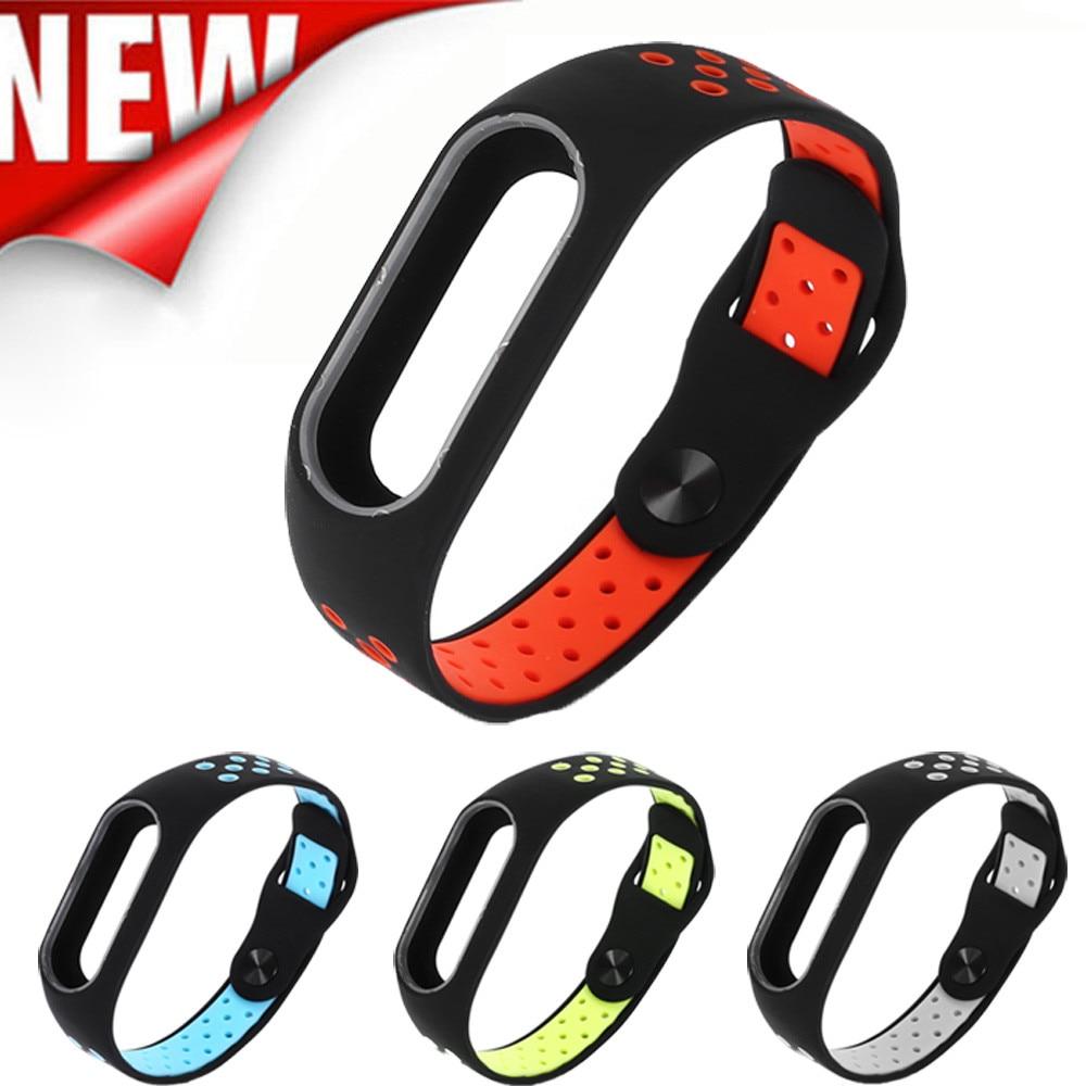 2017 Fashion Lightweight Ventilate Smart Wrist Strap Wristband For Xiaomi Mi Band 2 drop ship Jul28 M30 new fashion original silicon wrist strap wristband bracelet replacement for xiaomi mi band 2 dignity 8 9