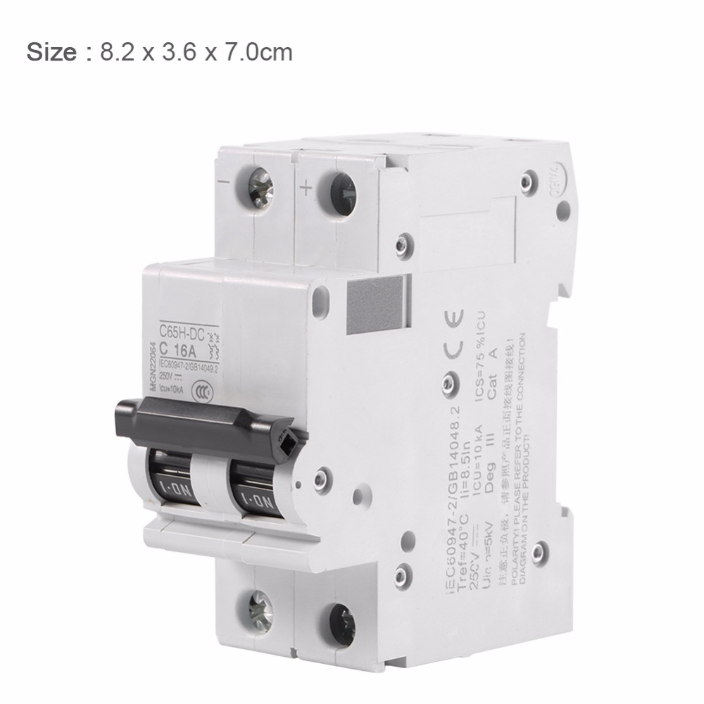 16a 32a 63a Amps Electric 2p 250v Miniature Circuit Breaker Schematic Electronic Air Switch Low Voltage C65h Dc For Systems In Switches From Lights