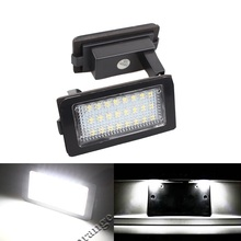 2Pcs  3528 24 SMD LED Car Number License Plate Lights Lamp LED Bulb for BMW E38 7 Series 740i 740iL 750iL 1995~2001 12V White free shipping new stabilizer link set for bmw car e38 740i e38 740il 750il left right front rear 33 55 1 095 696