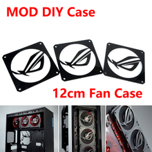Black DIY 12CM Fan Cover Radiator Decorative Cover Water cooling accessories Water Cooler System ROG Gaming NVIDIA MOD
