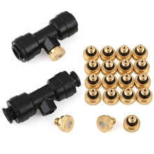 Adjustable Spray Misting Nozzle Garden Sprinklers Fitting Hose Water Connector 4 Holes Irrigation