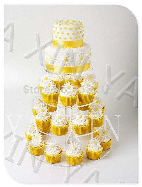 Storey 15cm 4 Tier Maypole Acrylic Cupcake Stand, Perspex Wedding ...
