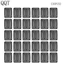 QQT do Gopro akcesoria 30 sztuk zakrzywione do montażu powierzchniowego dla Go pro Hero 7 6 5 4 3 + 2 dla Xiaomi dla Yi dla SJ4000 dla eken h9r