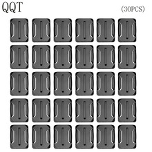 QQT for Gopro Accessories 30 pcs Curved Surface Mount For Go pro Hero 7 6 5 4 3 + 2 for Xiaomi for Yi for SJ4000 for eken h9r