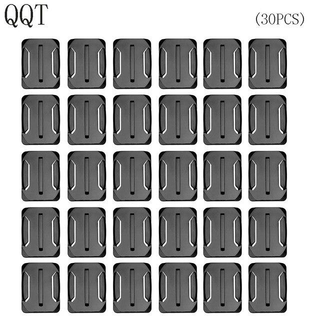 QQT pour accessoires Gopro 30 pièces support de Surface incurvé pour Go pro Hero 7 6 5 4 3 + 2 pour Xiaomi pour Yi pour SJ4000 pour eken h9r