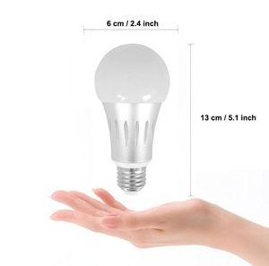 Image 2 - E27 15W zmiana koloru żarówka led lampa zdalnie sterowana RGB + biała + WW + CW + noc