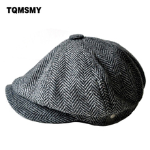 2017 high quality newsboy caps for men and women hats gorras planas Octagonal cap Leisure and wool blend canned koala flat cap