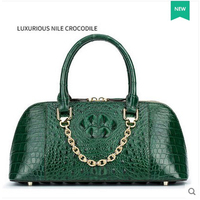 Gete 2017 New Crocodile Leather Women Handbag Fashionable And Relaxed Beautiful Green Women Bag Single Shouder