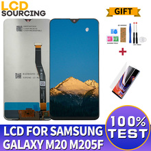 6.3 inch For Samsung Galaxy M20 2019 LCD Display M205F Touch Screen Digitizer Assembly For SM M205 M205G/DS M20 Display Replace