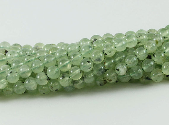 """4-10mm Smooth Natural Round Jade Jewelry Making Loose Gemstone Beads 15/""""AAA"""