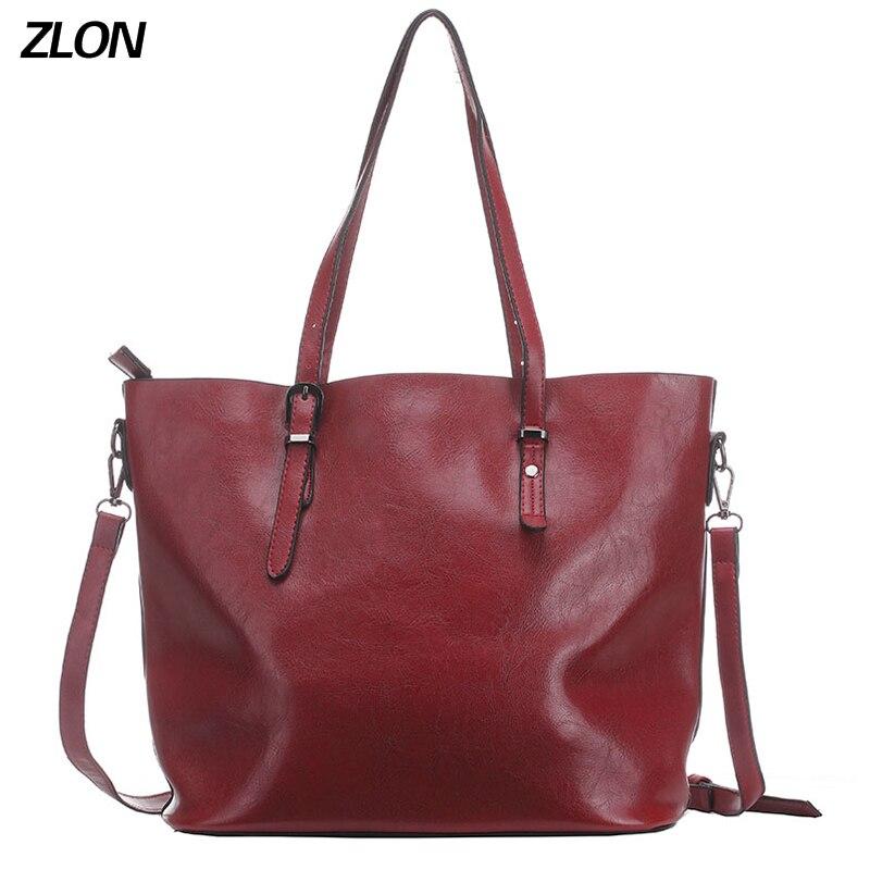 ZLON Hot Sale Women Casual High Capacity Tote Bag Female High Quality Soft Genuine Leather Ladies Crossbody Bag 3 Colors N105