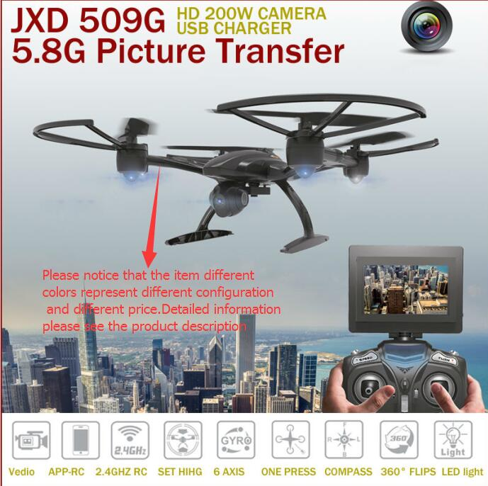 RC Helicopter JXD 509 509W 509G RC Drone 2.4G Headless Mode One Key Return 5.8G FPV RC Quadcopter With HD Camera VS U842 H11D jxd 509 jxd 509g jxd509g 509w 509v quadcopter upper body shell cover