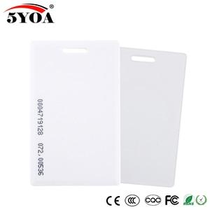 Image 2 - 5YOA 50pcs 5YOA 1.8mm EM4100 125khz Keyfob RFID Tag Tags Access Control Card  Key Fob Token Ring Proximity Chip