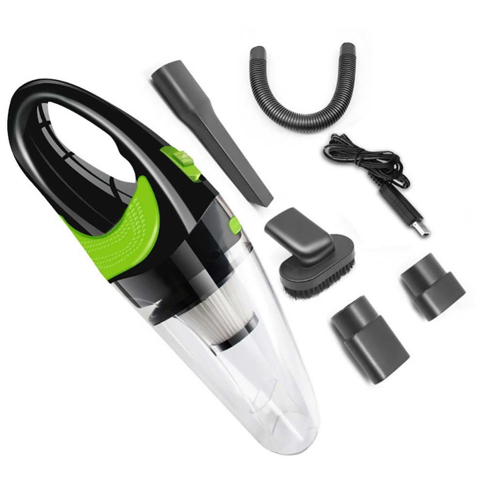 4000kpa Wireless Car Vacuum Cleaner 100 240V AC Aluminum Battery Charger USB Charging Cable Wet And Dry Dual Use Vacuum Cleaner