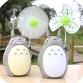 2016 new USB rechargeable fan Totoro multi-function electric fan with night light household soft mute fan LED desk lamp light