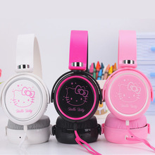 Cute hello kitty Cartoon earphone headset headphones for Mobile Phone MP3 MP4 Computer for iphone samsung