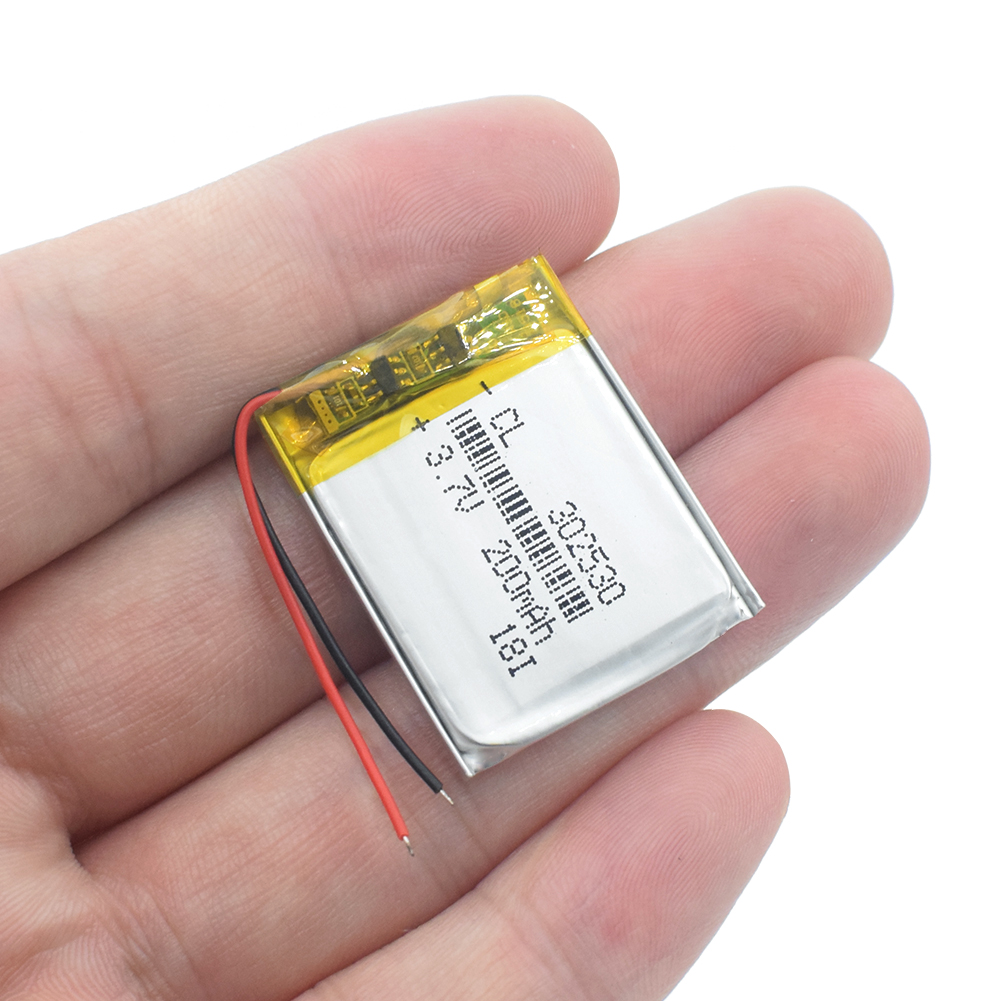 302530 Li-ion Battery 3.7V 200mAh Lithium Polymer Rechargeable Batteries For MP3 MP4 MP5 GPS PDA Speaker Watch Traffic Recorder
