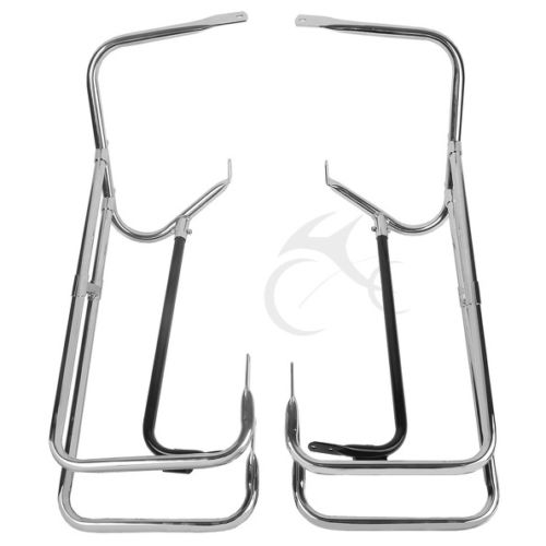 Saddlebag Guard Rail Mounts Bracket For Harley Touring Road King Electra Street Glide FLHT FLHX FLHR CVO 97-08 mustache engine highway crash guard bar for harley touring models fl flhr flht flhx road king electra street glide
