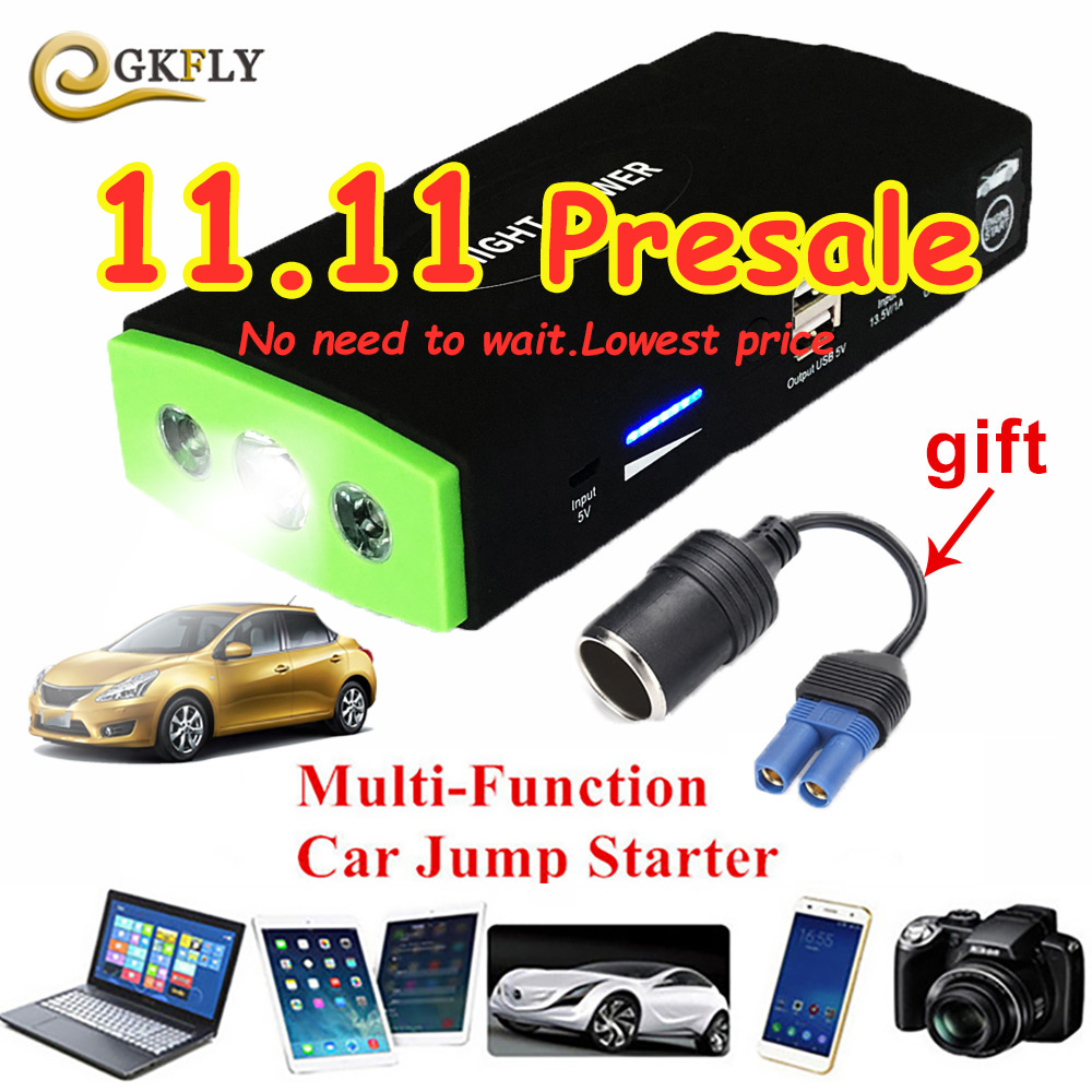 Portable Car Jump Starter Booster 12V Mini Car Battery Multifunction Auto Engine Power Bank Starting Device For Booster Buster practical 89800mah 12v 4usb car battery charger starting car jump starter booster power bank tool kit for auto starting device