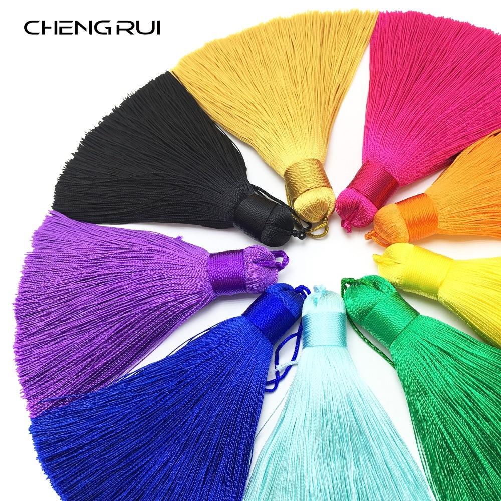 CHENGRUI L148,8.5cm,tassel silk fringe,craft tassels,fringe for curtain,tassels for jewelry diy,fringe curtain,2pcs/bag