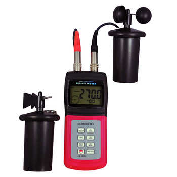 Landtek AM-4836C Multi Function Professional 3 Cup Anemometer Air Speed Temperature Beaufortscale Wind Direction Air Flow OD