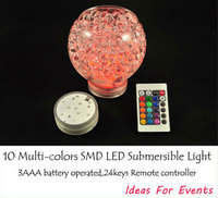 2014 Limited Sale Decoration 12pcs Lot Remote Control Rgb Multi Colors Led Vase Lights For Wedding