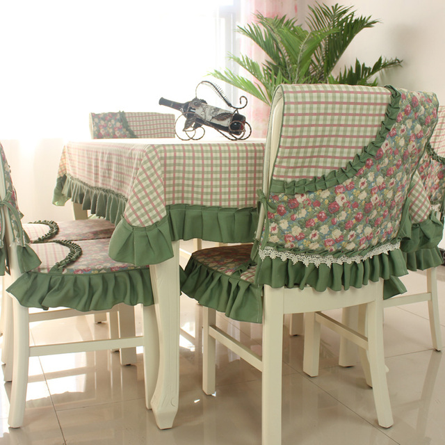 Dining Table Cloth Cushion Chair Cover Plaid Rustic Set Tablecloth Quality Brief The Price