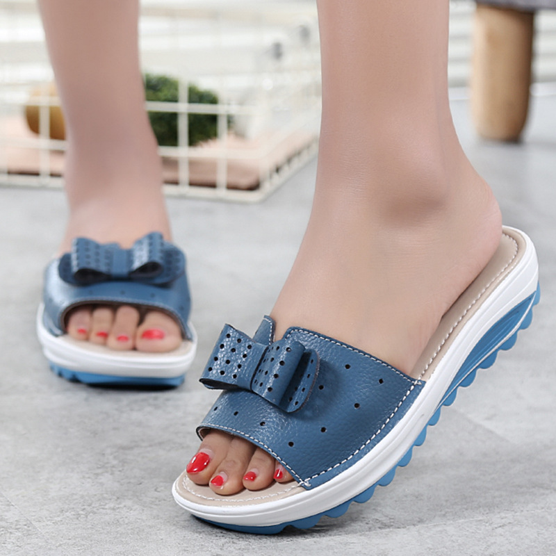 Womens Sandals Women Flats Shoes Platform Wedges Sandals  Genuine Leather Shoes Ladies Slides New Summer Shoes Beach Flip FlopsWomens Sandals Women Flats Shoes Platform Wedges Sandals  Genuine Leather Shoes Ladies Slides New Summer Shoes Beach Flip Flops
