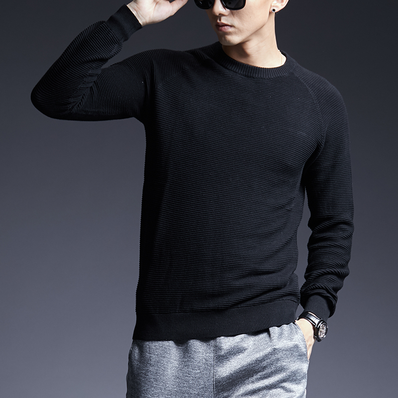 2019 New Fashion Brand Sweater For Mens Pullovers Thick Slim Fit Jumpers Knitwear Warm Autumn Korean Style Casual Clothing Male