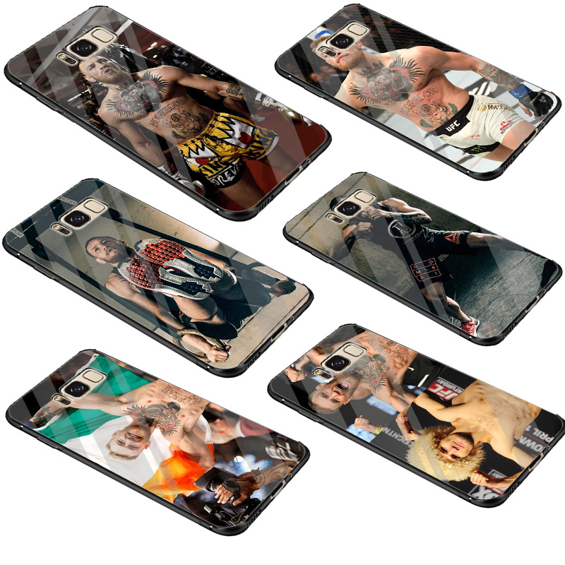 Fitted Cases Constructive Desxz Conor Mcgregor Ufc Novelty Case Glass For Samsung Galaxy S7 Edge S8 S9 S10 Plus Note 8 9 Protection Cover Cellphones & Telecommunications