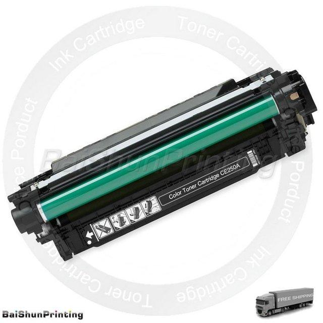 Color Toner Cartridge CE250A,250,50A for HP Color LaserJet CM3530fs MFP,CP3520,CP3525