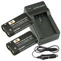 DSTE 2 UNIDS CR-V3 Batería Recargable + Cargador de Viaje y Coche Para Olympus C-700 C-720 C-740 C-740UZ C-750 C-750UZ C-730 cámara