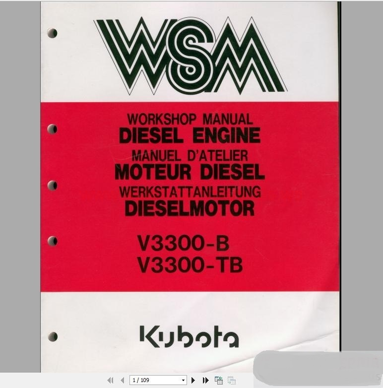 ⃝Kubota Full Set Workshop Manual DVD - a765