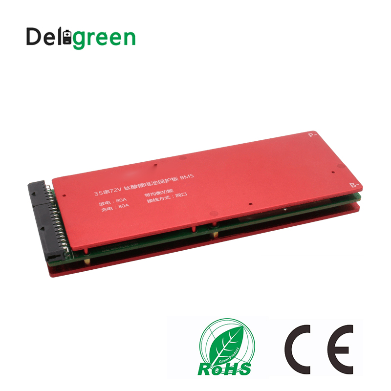 High quality 3S 5S 10S 15S 20S 25S 30S 35S 100A bms with Balance for lto 2.4v battery pack 18650 lithium titanate battery lto battery bms 5s 12v 80a 100a 200a lithium titanate battery circuit protection board bms pcm for lto battery pack same port