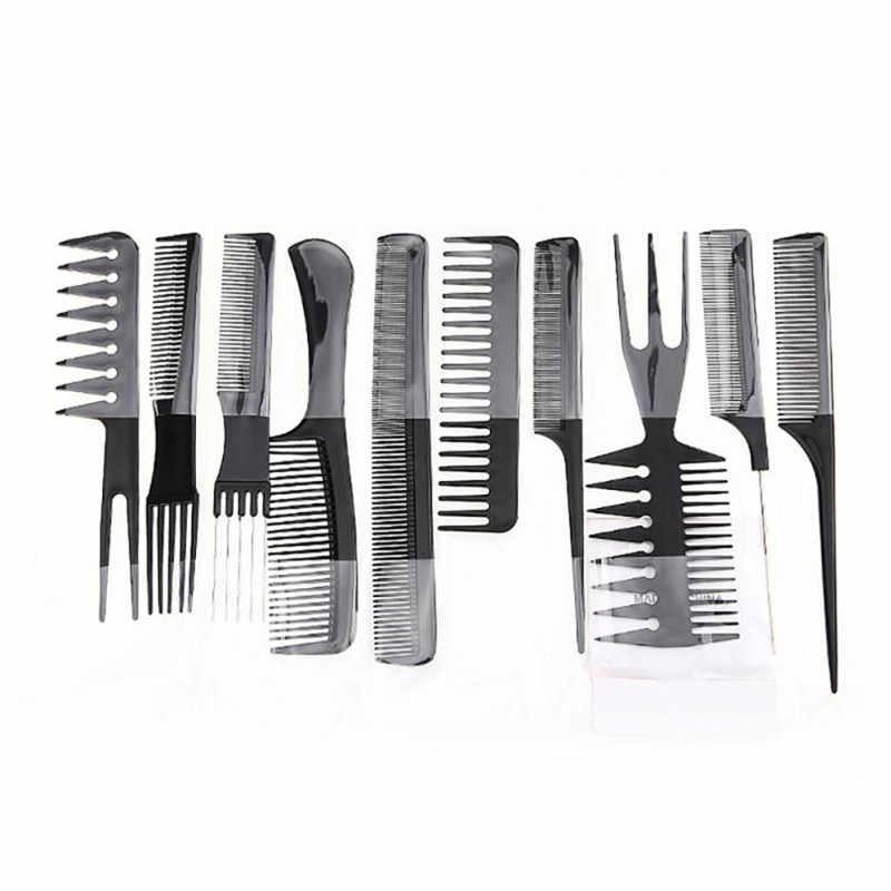 Гребень 10 шт. высокое качество укладки волос гребень профессиональный черный Кисточки парикмахеры x9063 5up