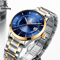 IK Colouring 2018 Clock Men 40mm Stainless Steel Case Auto Date Mechanical Wristwatch Male Business Formal Watch Automatic