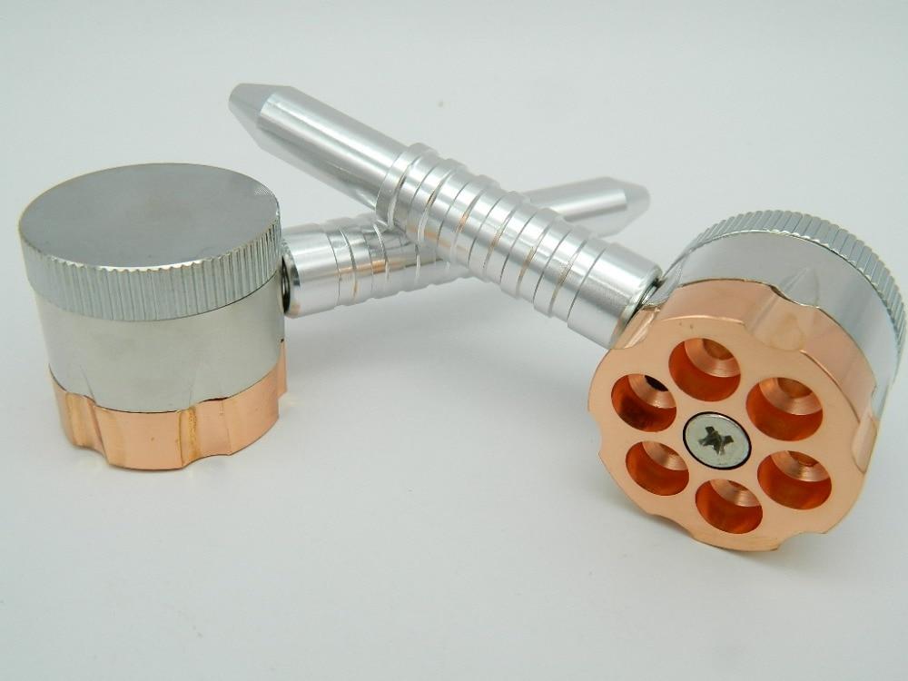 1 St Bullet Roterende Tabak Pijp Metalen Kruiden Tabakmolen Voor Twee - Huishouden