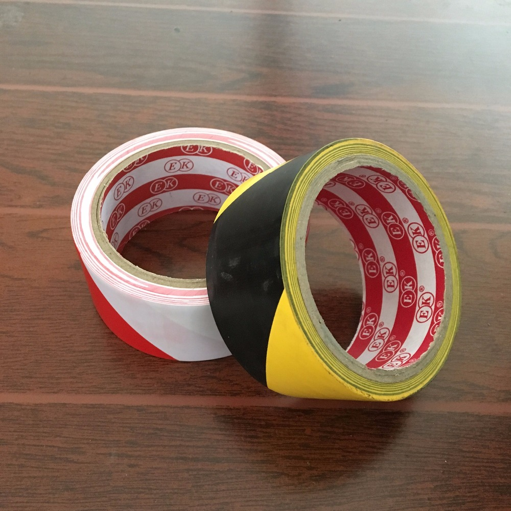 2pcs PVC Packing Warning Tape Floor Carpet Adhesive Tape Zebra Crossing Marked Cordon Off Width 45mm Length 17meter 20Y multi color 1 roll 20m marking tape 100mm adhesive tape warning marker pvc tape