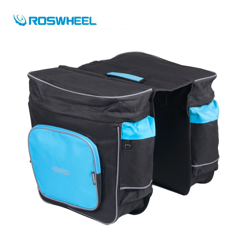 ROSWHEEL Bicycle Carrier Bag 30L Rear Rack Trunk Bike Luggage Back Seat Pannier Two Double Bags Outdoor Cycling Saddle Storage 1 - Simfine Store store
