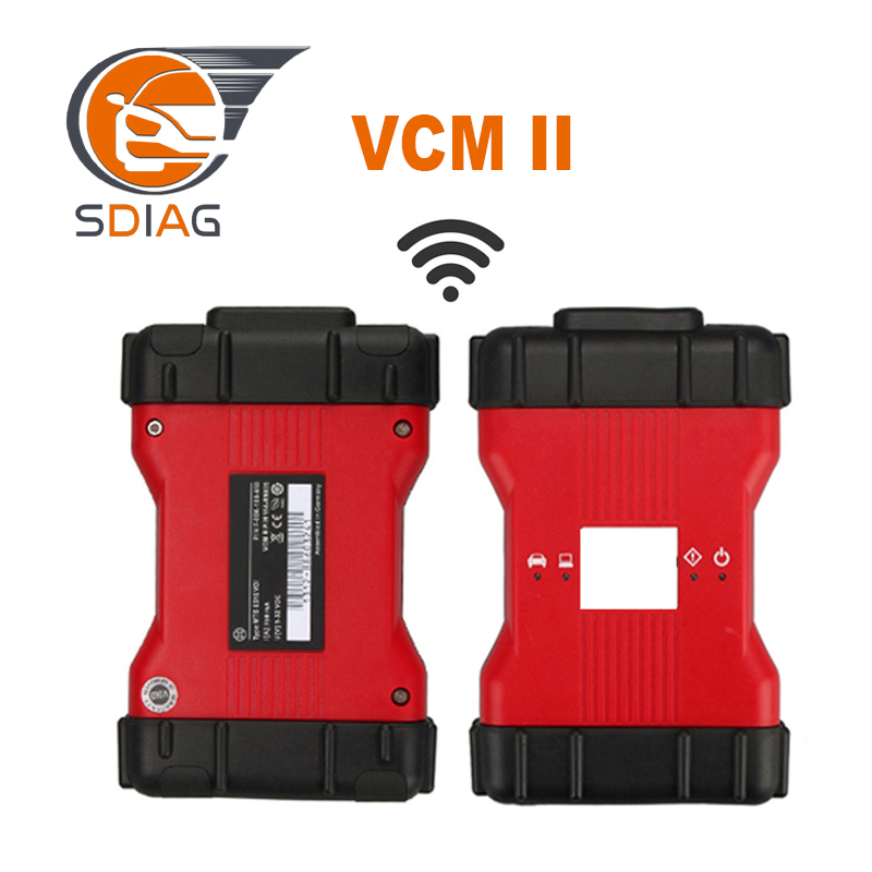 Newest V101 VCM2 Wifi Function VCM II 2 In 1 For Fd & For Mazda Diagnostic Interface With Plastic Box VCM 2 DHL Free Shipping