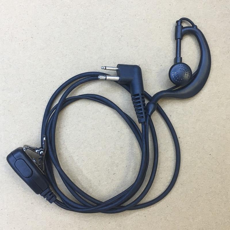 clamp collar PTT earphone earhook suit for motorola gp88s/300/88/2000/3188,A8,HYT TC500S/510/610/700  walkie talkie freeshipping