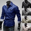 men's shirt  Business style long-sleeved men's clothes solid shirt  hot selling shirts for men C32