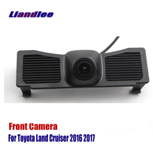 Liandlee AUTO CAM For Toyota Land Cruiser 2016 2017 Car Front View Camera Logo Embedded ( Not Reverse Rear Parking Camera ) car rear view camera reverse rearview camera for toyota prado land cruiser 120 170 degrees
